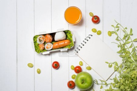 Bento box with different food