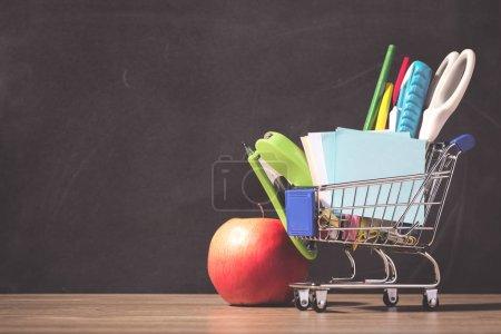 Education, Back to School, Shopping. Blackboard
