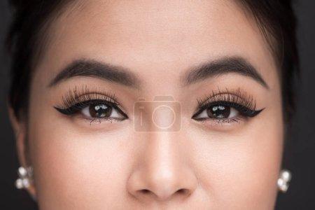 female eye with classic eyeliner