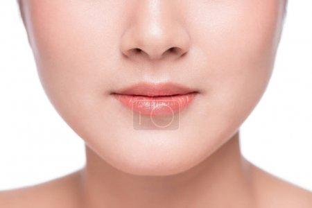 lip makeup close up