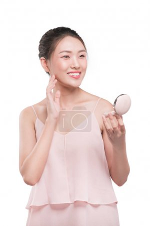 Attractive asian woman with perfect fresh clean making make-up