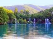 Waterfalls of Plitvice Lakes.