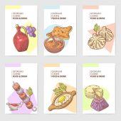 Hand Drawn Georgian Food Brochure Template