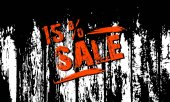 Sale in a grunge style