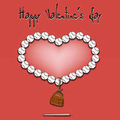 Valentýn a srdce od baseballové míčky