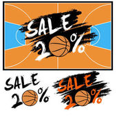 Set banners sale 20 percent with basketball