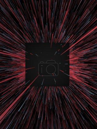 Photo pour Numérique abstrait rouge et bleu lignes colorées 3d arrière-plan de rendu - image libre de droit