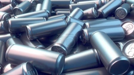 Metal can pattern 3d rendering