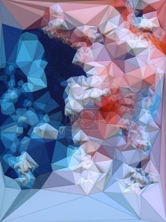 Abstract colored polygonal triangular mosaic background. 3d rendering