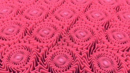Abstract pattern background of pink shapes 3D rendering