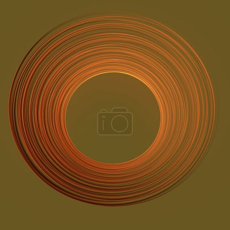 Geometric frame from circles, 3d rendering abstract background