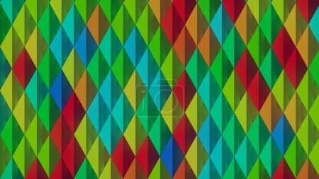 Abstract pattern background of colored shapes 3D rendering