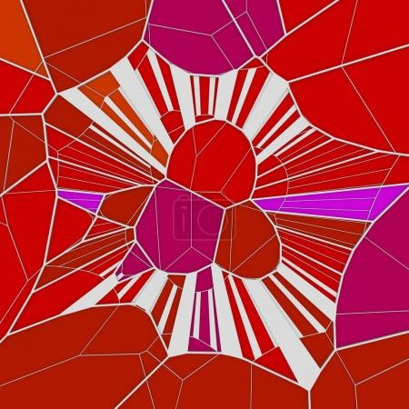 Abstract geometrical concept voronoi low poly tesselated pattern. 3d rendering