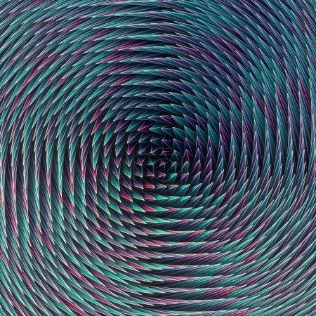 Photo pour Composition abstraite futuriste. Fond de formes tridimensionnelles colorées rendu 3D - image libre de droit