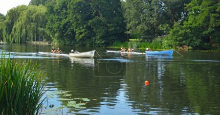 Starting positions for St Neots Regatta  on the River Ouse.