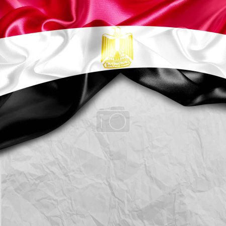 waving flag of Egypt