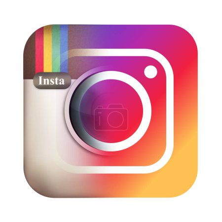 photo camera icon with instagram symbol