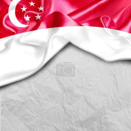 waving flag of Singapore
