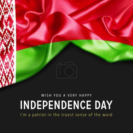 Photo pour Affiche avec drapeau de la Biélorussie - image libre de droit