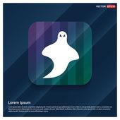 Halloween ghost icon vector illustration