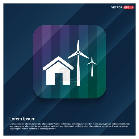 house and wind energy icon