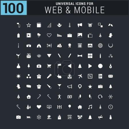 100 Universal web and mobile icon set