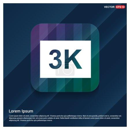3K video resolution icon
