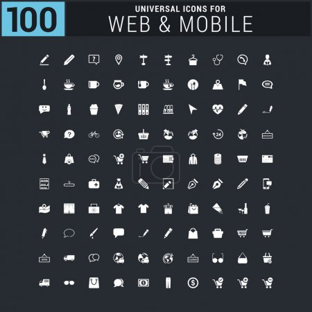 100 Universal web and mobile icon set
