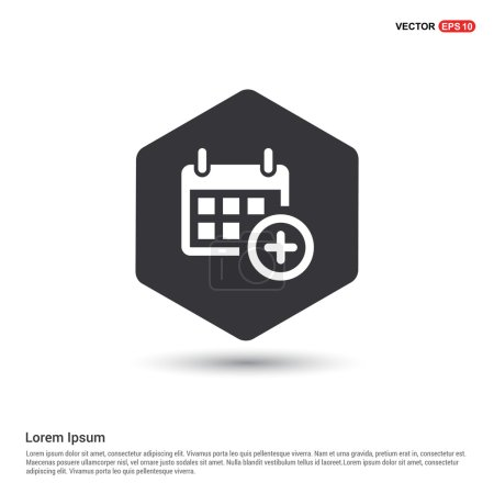 Illustration for Calendar add date icon . vector illustration - Royalty Free Image