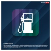 Vector illustration of gas station icon