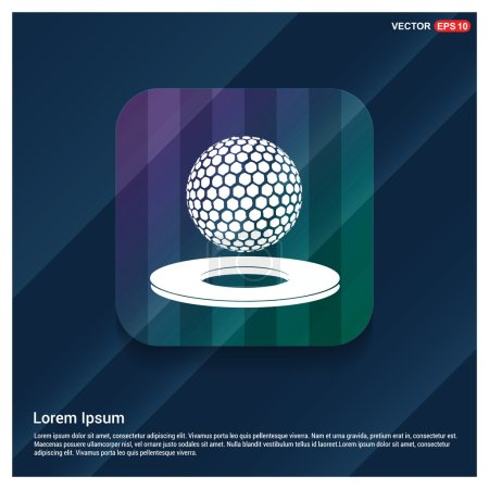 Golf ball and hole icon