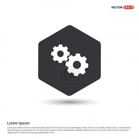 Illustration for Gears web icon vector illustration - Royalty Free Image