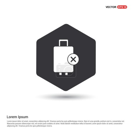 Remove luggage item icon. vector illustration...