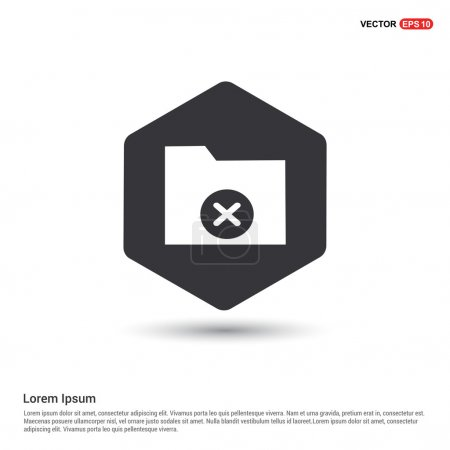 Folder Icon. Flat pictogram