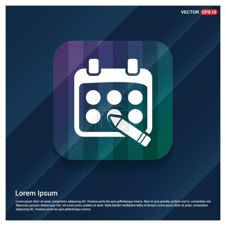 Illustration pour Icône vectorielle ligne calendrier - image libre de droit