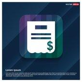Dollar bill invoice icon