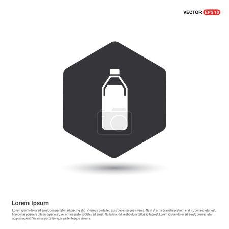 Illustration pour Icône bouteille en plastique. illustration vectorielle - image libre de droit