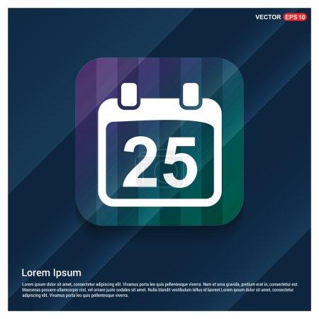Illustration pour Icône calendrier de vecteur ligne - image libre de droit