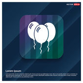 Holiday balloons icon vector illustration