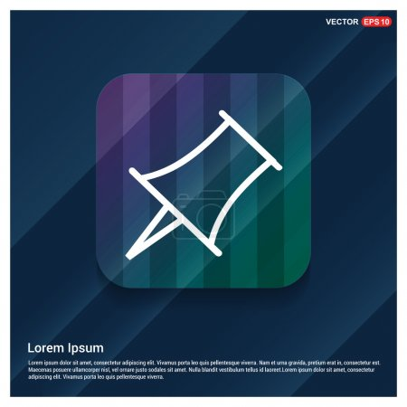 Illustration for Push pin icon, vector Illustration - Royalty Free Image