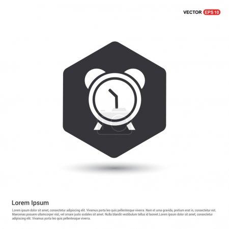 Flat clock web app icon