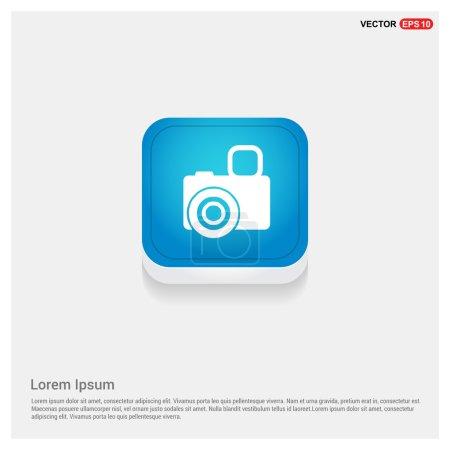 Illustration for Photo camera icon. Photography. Flat design. - Royalty Free Image