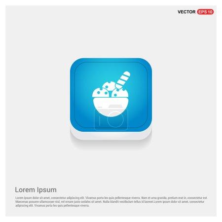 Illustration pour Icône de crème glacée. illustration vectorielle - image libre de droit