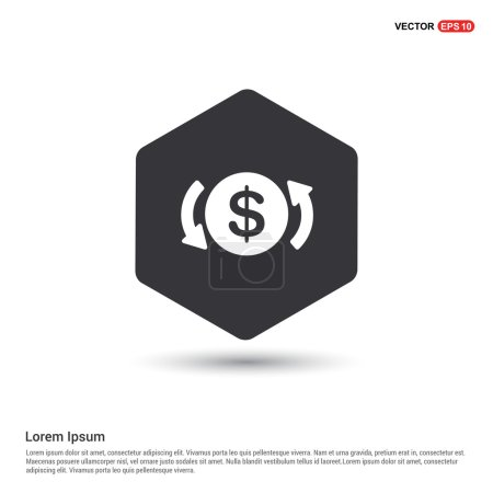 Dollar Converter Icon. vector illustration...