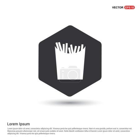 Illustration pour Icône des frites. illustration vectorielle - image libre de droit