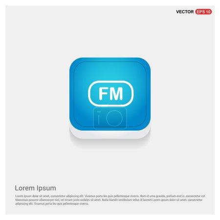 Fm radio frequency icon. vector illustration...