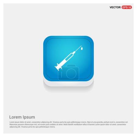 Illustration pour Icône de seringue médicale. illustration vectorielle - image libre de droit