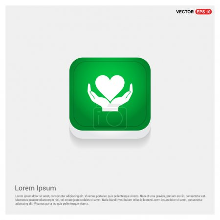 Illustration for Help or charity icon. heart in hands. vector - Royalty Free Image