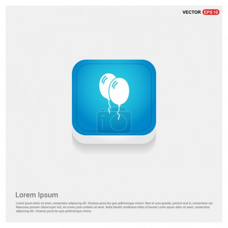 two white balloons icon