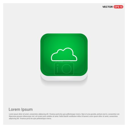 Illustration for Weather cloud icon. vector illustration - Royalty Free Image